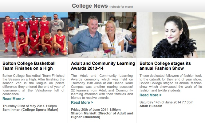 Bolton College News