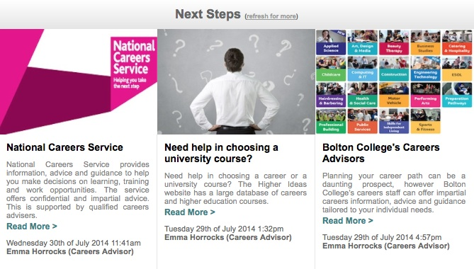 Next Steps News Feed