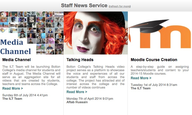 Staff News Feed